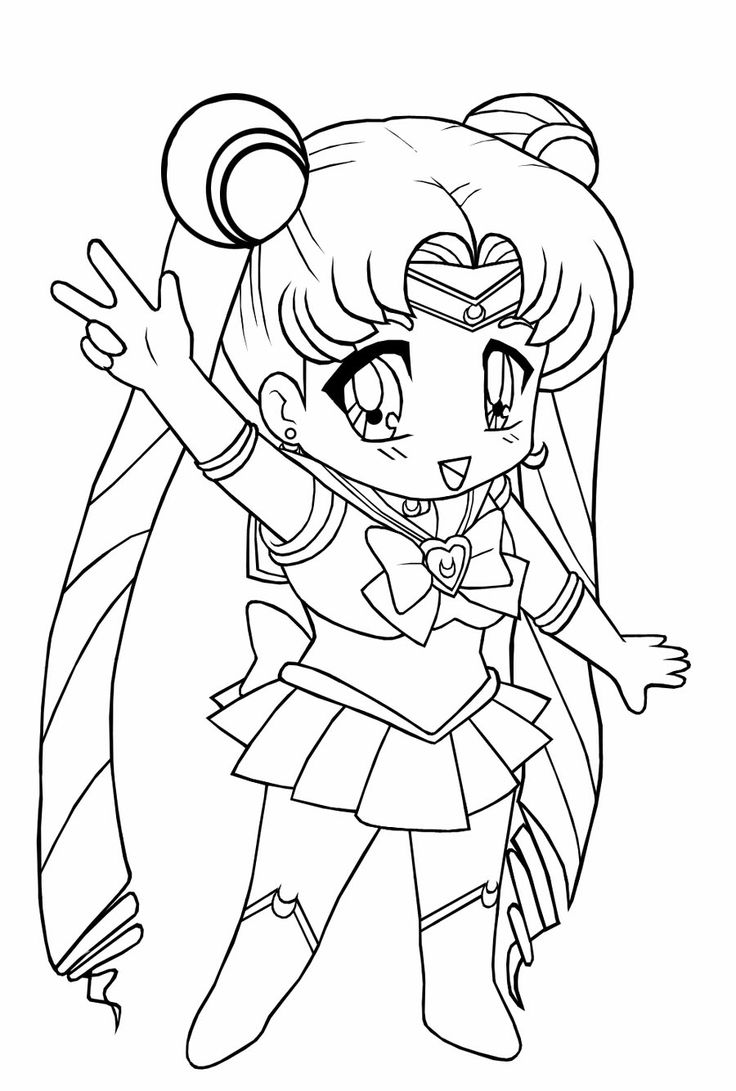 Chibi Sailor Moon Coloring Pages sailor moon coloring