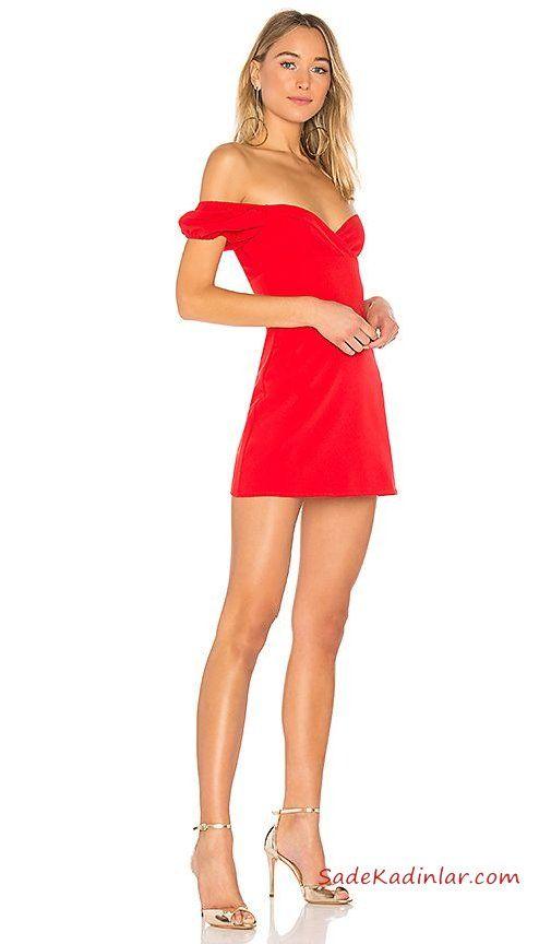 f25d7bdfbe51e Kısa Abiye Gece Elbiseleri Kırmızı Kısa Straplez Düşük Kol Geniş V Yaka  Gold Topuklu Ayakkabı #moda #fashion #fashionblogger #evening  #eveningdresses ...