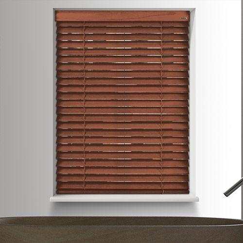 battery powered Richmond Sultry Rest wood blind. #HomeDecor #InteriorDesign #Decor #WoodenBlinds  #CreateYourHome #BudgetBlinds #WindowShades #Window  #Design #Blind #WindowCoverings #Windows #MadeinUK