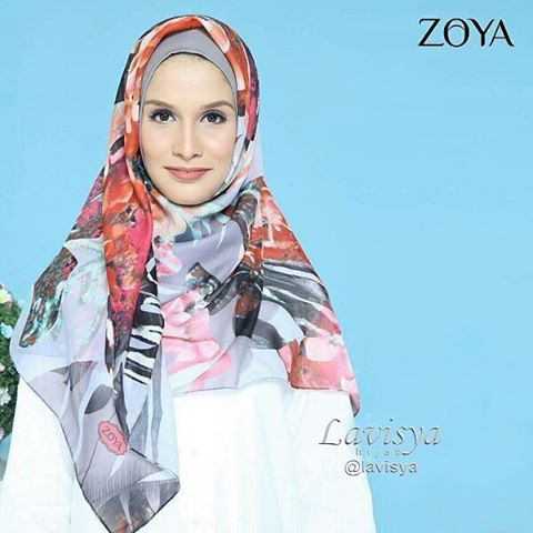 "21 Likes, 1 Comments - ZOYA - ELZATTA - MEZORA (@lavisya) on Instagram: ""Leavy Abstrac scarf Rp 59000 Cara order :  Ketik nama barang sertakan nama dan alamat lengkap kirim…"""