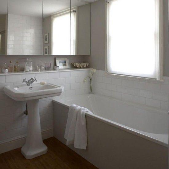 Simple White Bathrooms