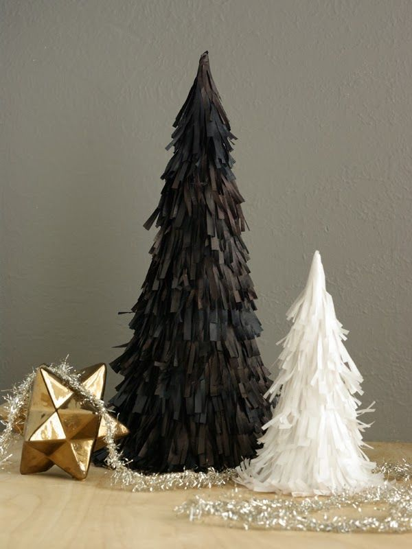 Oleander and Palm: Tissue Paper Christmas Trees