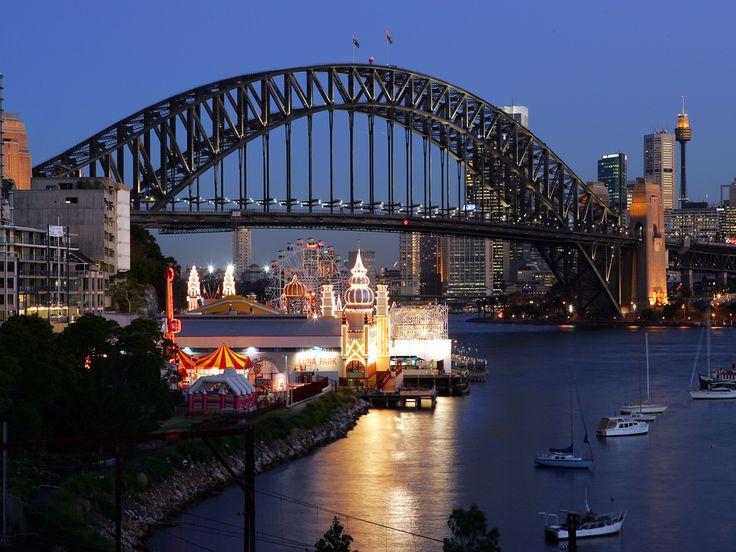 Glittering Luna Park Sydney Australia Wallpaper