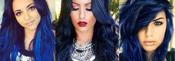 Midnight Blue is een haarkleur die dames met donker haar geprobeerd moeten hebben!