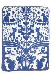 Wiegdeken - Fairytale Forest kobalt blauw