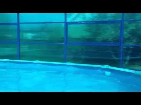 навес из поликарбоната для бассейна на даче видео - YouTube