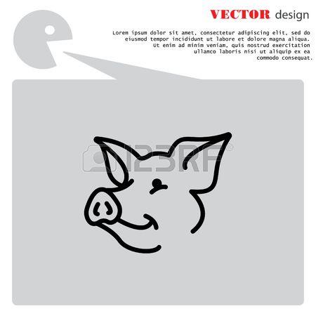 Web-lijn Icoon. Varken, Vee Royalty Vrije Cliparts, Vectoren, En Stock Illustratie. Image 78972624.