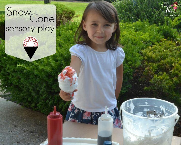 Tutus and Tea Parties: Virtual Summer Camp   Snow Cone Sensory Play