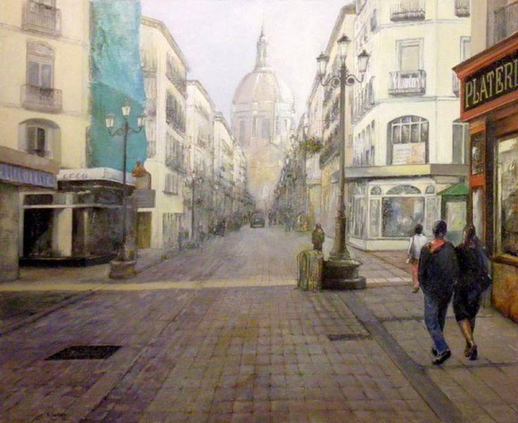 Pintura y fotograf a art stica pintura hiperrealista urbana al leo de varios pintores - Pintores zaragoza ...