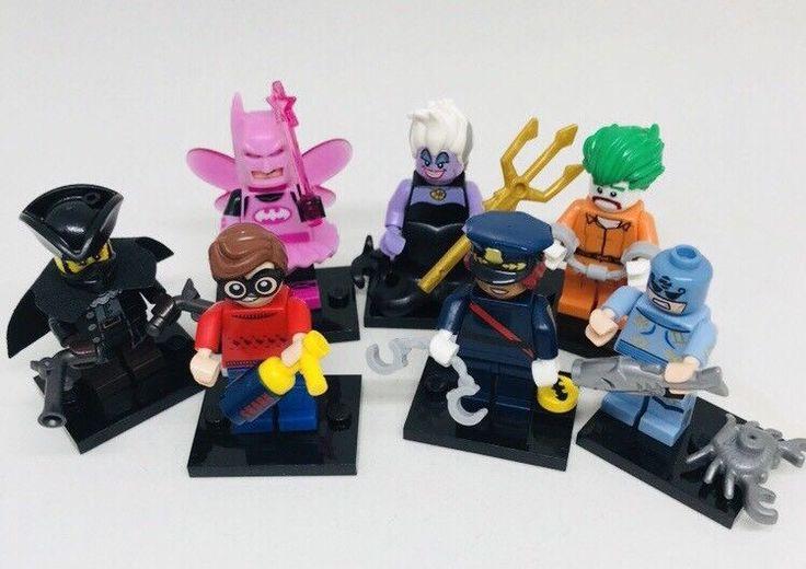 7 Lego Minifigures Conplete With Accessories Disney Ursula Batman Joker Police   | eBay