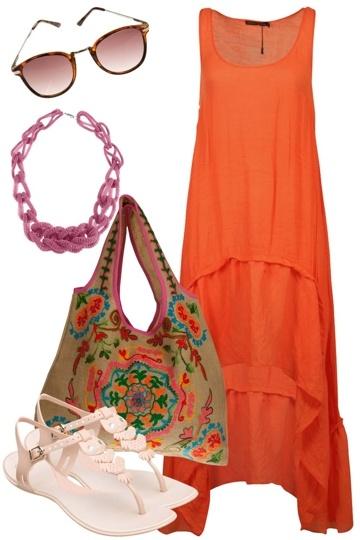 Blood Orange Beach Dress  Living Doll