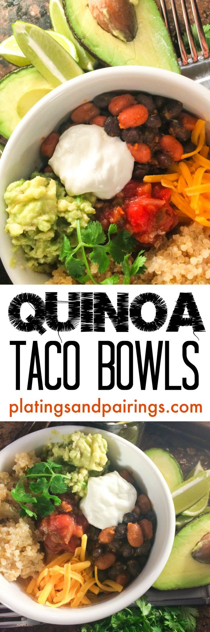 Healthy Quinoa Taco Bowls - Customize with your favorite toppings!