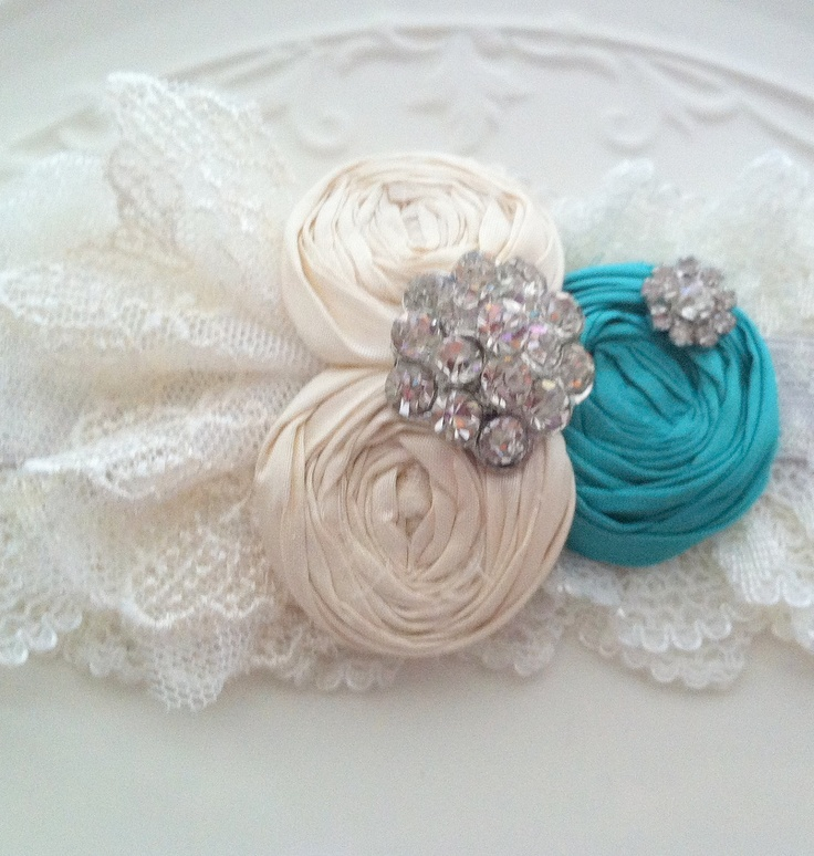 Something Blue 2158 Turquoise Bridal Garter Set Wedding