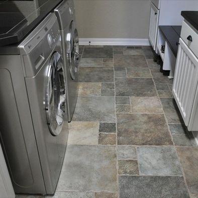 Slate Floor Tile Pietre Del Tibet Laundry Room