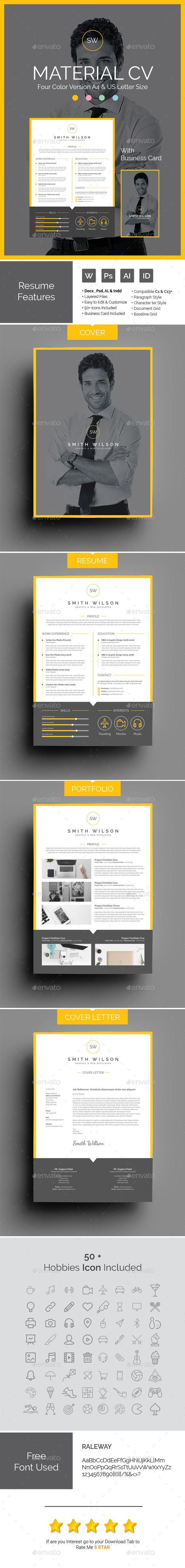 makeup artist cover letters%0A Material CV Template AI  INDD  PSD  u     DOCX File  Download here  http  Design  ResumeCv
