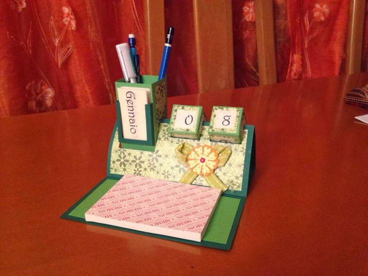Storie di timbri, carta e,,: HOW TO: Organizer da scrivania