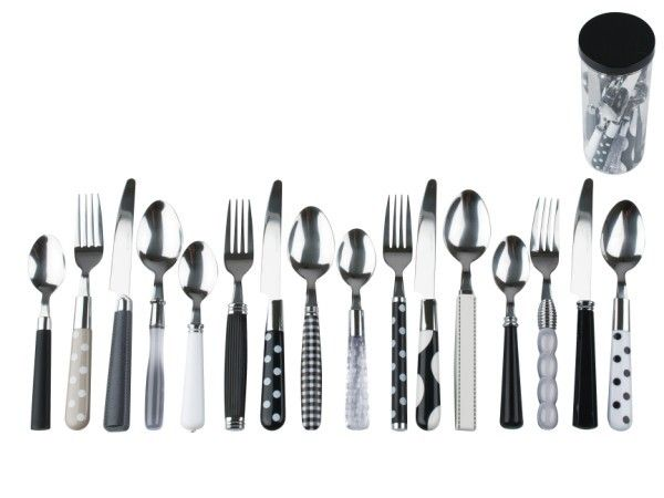 Cutlery Set Mix & Match Black & White