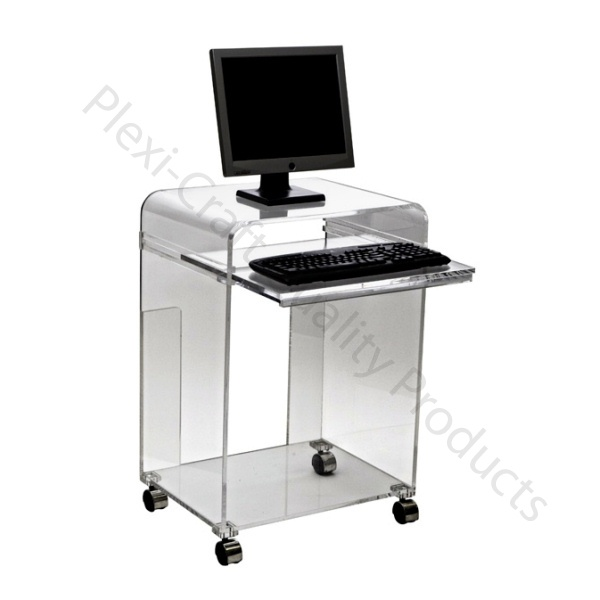 7 best our acrylic desks vanities images on pinterest for Small clear desk