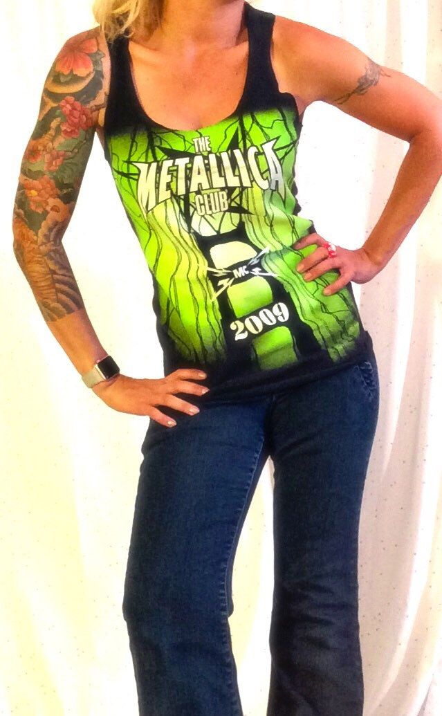 #metallica #handmade #tanktop #diy #heavymetal   For sale in my shop. Made from authentic Metallica band merch. One of a kind! Super cute! Only one available!