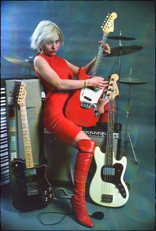 Debbie Harry and some lovely Fenders