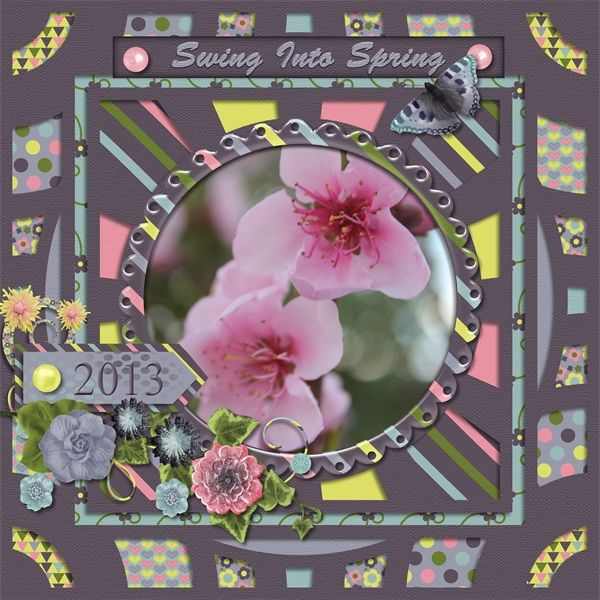 Spring Feelings Swing into Spring from Designs by Romajo available at With Love Studio http://withlovestudio.net/shop/index.php?main_page=product_info&cPath=46_401&products_id=6963  Kaleidoscope by LissyKay Designs available at Go Digital Scrapbooking http://www.godigitalscrapbooking.com/shop/index.php?main_page=product_dnld_info&cPath=29_308&products_id=27247