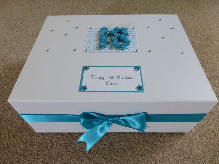 Keepsake Box large personalised Memory Box 18th 21st 30th 40th 50th many colours