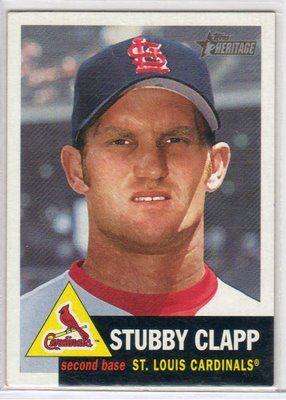 Stubby Clapp's Baseball Card - What A Name!