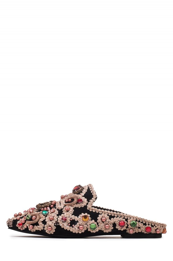 Jeffrey Campbell Shoes SARIKA-EMB New Arrivals in Black Multi Gold