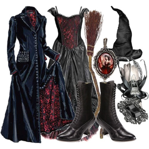 witch costume polyvore i really like the two dresses i wouldnt - How To Look Like A Witch For Halloween