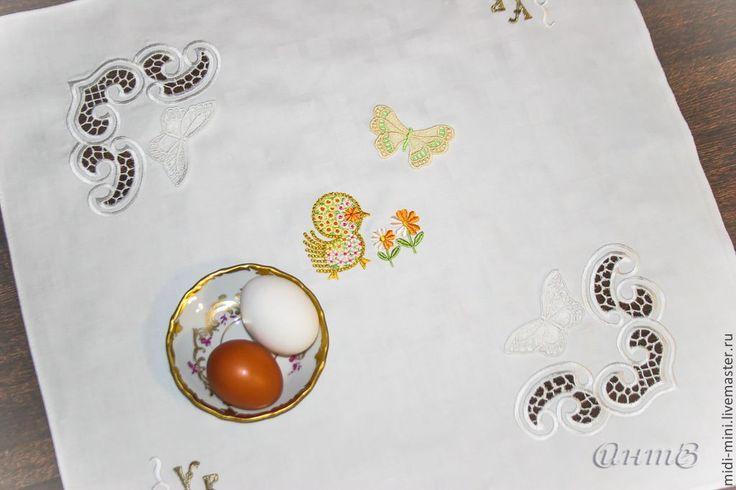 Купить салфеточка декоративная Светлая Пасха - белый, салфетка пасха, пасхальная салфеточка, декоративный элемент