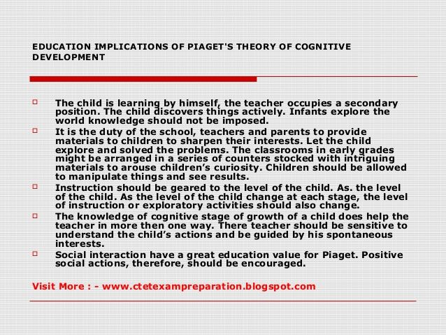 piagets developmental psychology essay Essay on jean piaget's theory of cognitive development - jean piaget's theory of cognitive development introduction jean piaget is the founder of cognitive development he is swiss and although he had no background in psychology, he made a tremendous impact on the field, particularly in the area of cognitive, developmental and educational psychology.
