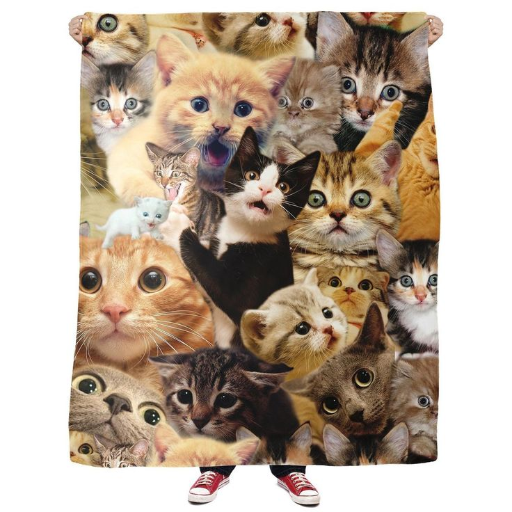 If you adore cats, then this Surprised Cats Fleece Blanket is for you! This all-over print design has numerous amount of surprised cat faces. How does it get any more adorable? These fluffy, cuddly, yet terrified cats are staring into your soul...waiting for you to pick up this awesome blanket. Go now!This product is hand made and made on-demand. Expect delivery to US in 11-20 business days (international 14-30 business days).   1st Size 2nd Size   Width 50 60   Length 60 80  *Sizes are in…