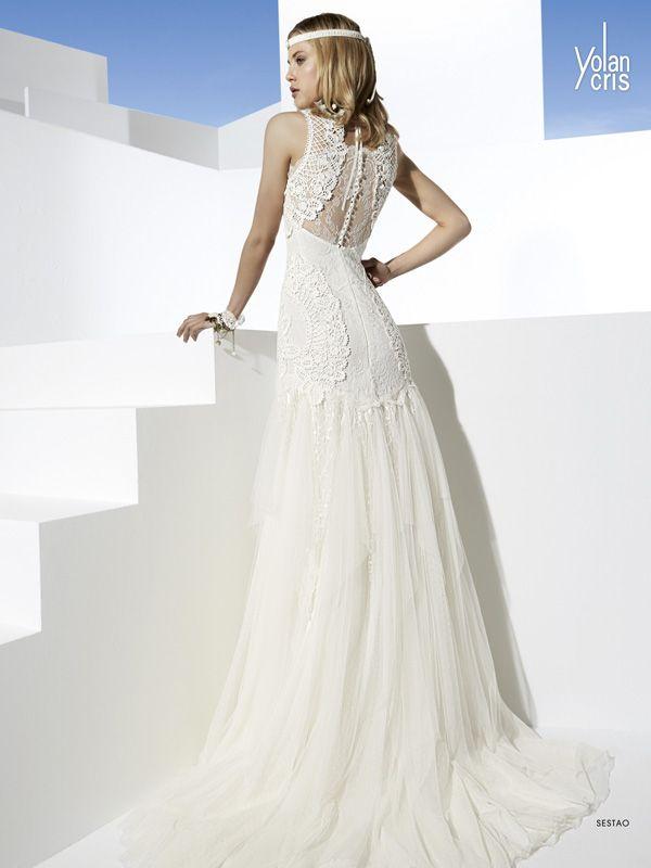Vestido de noiva Sestao Vestido de noiva Salomon Casamarela by YolanCris Nova coleção boho chic bridal collection 2014. #verao #praia #casamento #Ibiza #vestidos #noiva #boho #estilo #casamarela #campinas