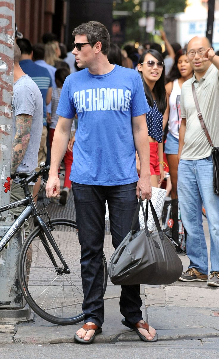 Cory Monteith Wearing His Joe S Jeans Brixton In New York