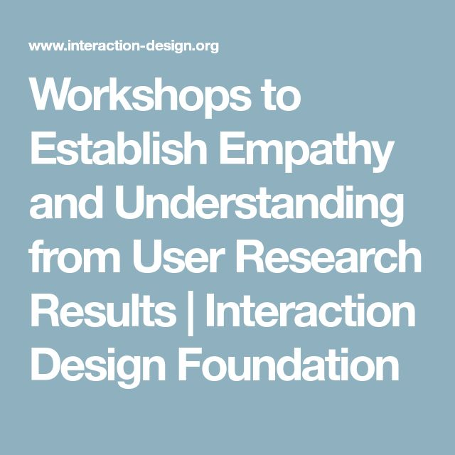 Workshops to Establish Empathy and Understanding from User Research Results | Interaction Design Foundation