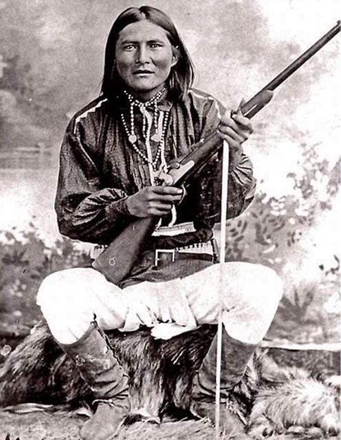 Alchesay, White Mountain Apache. Scout for General Crook. Circa 1882. Chief Alchesay won the Medal of Honor for extreme bravery in the Apache Wars.