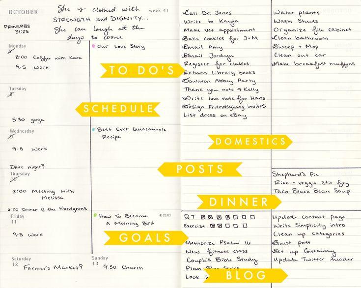 DIY Moleskine Planner Hack Ideas