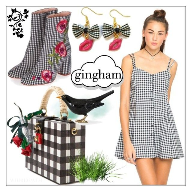 Gingham! by whirlypath on Polyvore featuring Dolce&Gabbana, Nuage and Lazy Oaf