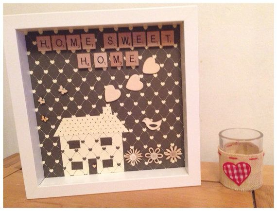 Home Sweet Home scrabble frame. Can be made by ButtonNButterflies