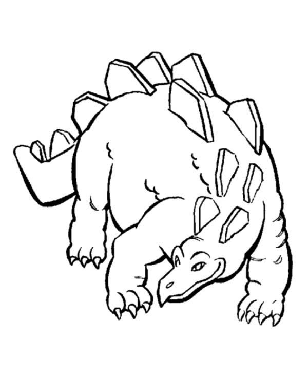 Coloring Pages Dinosaurs Stegosaurus Images