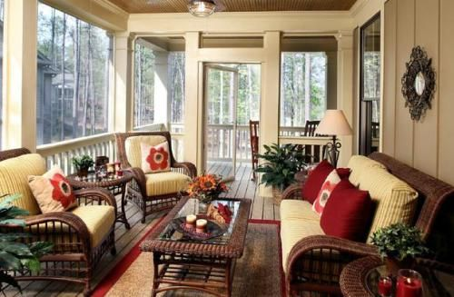 Fine Looking Screened Porch Furniture