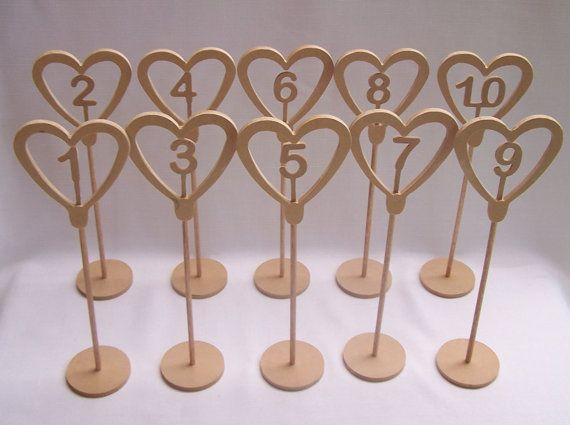 Freestanding MDF Wedding Table Numbers RAW by Ozwoodletters