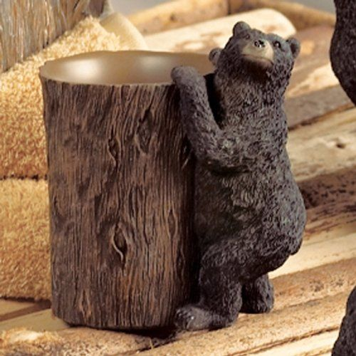 Black Bear Lodge Tumbler  Wilderness Bathroom Accessories -- Details can be found by clicking on the image.