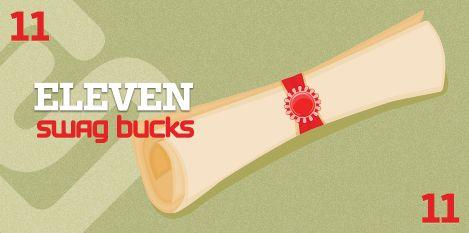 I won the limited edition 11 Swag Buck Bill at Swagbucks #swagbucks