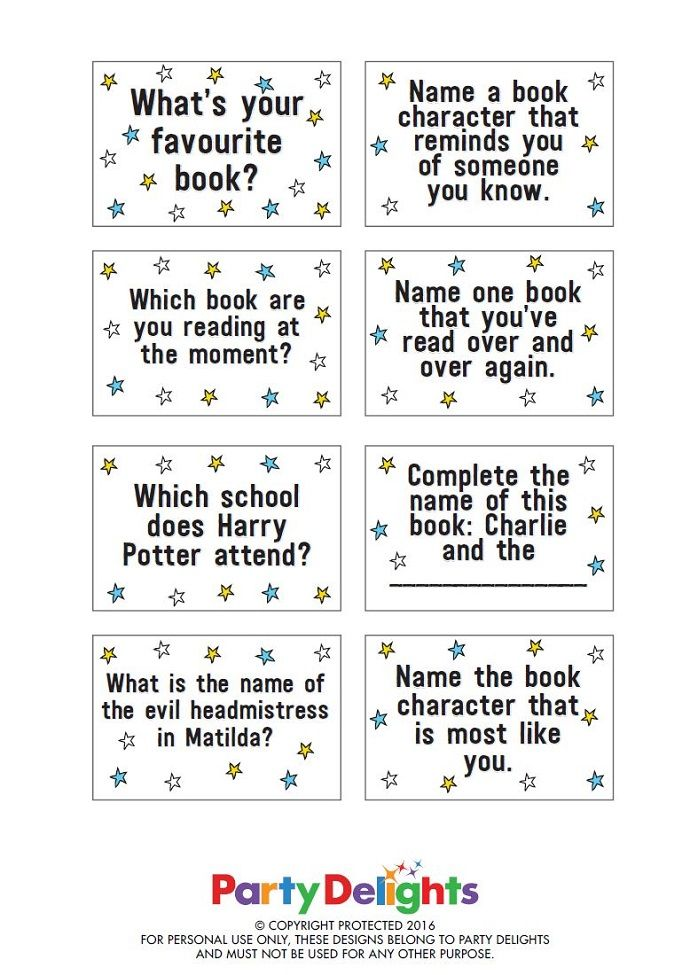 Printable World Book Day Game