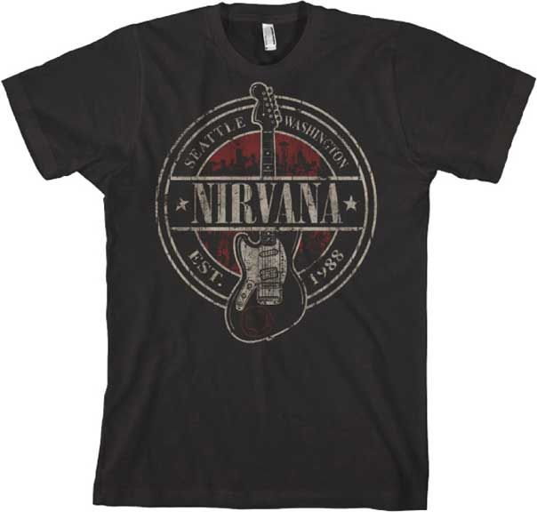 Vintage Band Tee - Nirvana T-shirt - Established 1988 Vintage Style - http://www.band-tees.com/store/N_00400_270!FEA/Nirvana+Est+1988+Vintage+Style+T-shirt