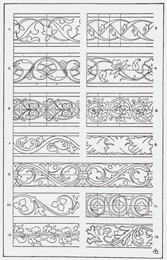 """SITE IS AN INCREDIBLE RESOURCE - all sorts of designs From, """"A Handbook of Ornament"""". 1898 by Franz Sales Meyer."""