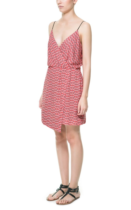Zara - PRINTED DRESS WITH ASYMMETRIC SKIRT