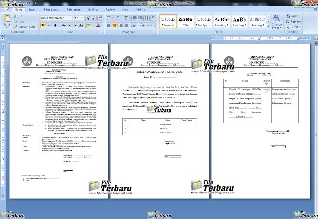Download Formulir SK Tim Management BOS File Terbaru 2016