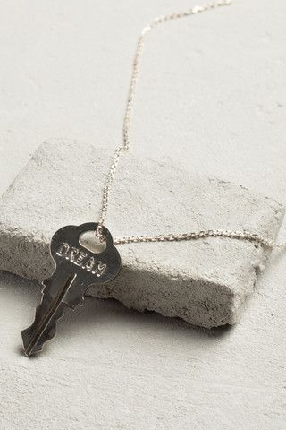 "The Giving Keys - Dainty Necklace 18"" Silver Inspire"